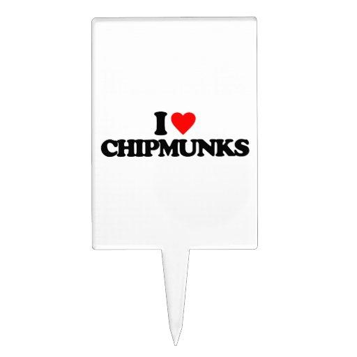 I LOVE CHIPMUNKS CAKE TOPPER