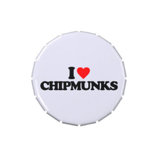 I LOVE CHIPMUNKS JELLY BELLY CANDY TINS
