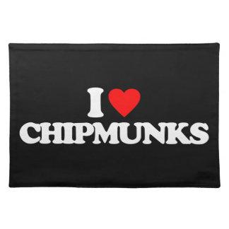I LOVE CHIPMUNKS PLACEMAT