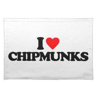 I LOVE CHIPMUNKS PLACE MAT