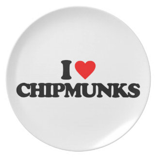 I LOVE CHIPMUNKS PLATES