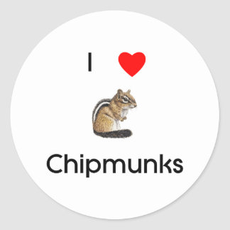 I love chipmunks Sticker