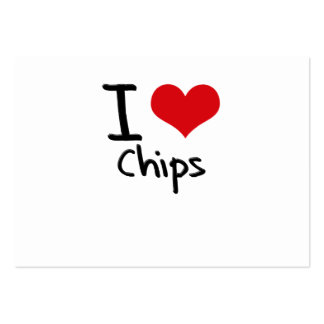 I love Chips Business Cards