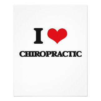 I love Chiropractic Full Color Flyer