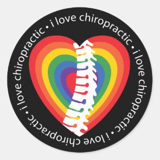 I Love Chiropractic Stickers