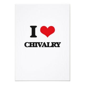 I love Chivalry 5x7 Paper Invitation Card