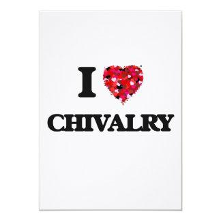 I love Chivalry 13 Cm X 18 Cm Invitation Card