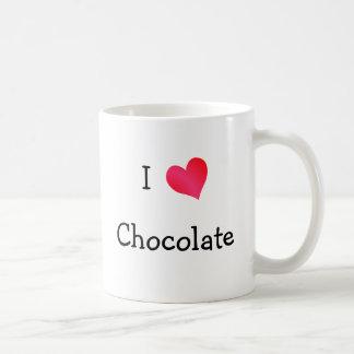 I Love Chocolate Basic White Mug