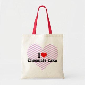 I Love Chocolate Cake Budget Tote Bag