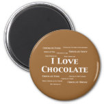 I Love Chocolate Gifts Magnet