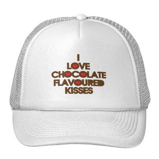 I Love Chocolate Kisses Mesh Hat