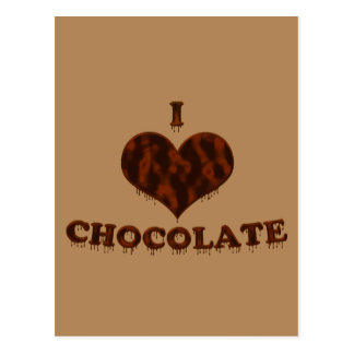 I Love Chocolate Postcard