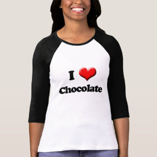 I Love Chocolate T-Shirt Valentine s Day Retro