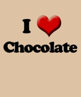 I Love Chocolate T-Shirt, Valentine's Day Retro