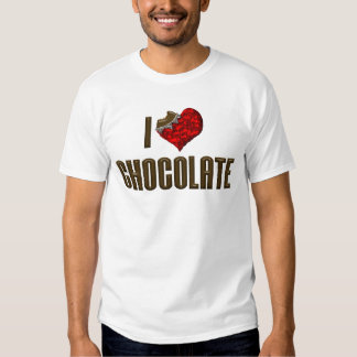 I Love Chocolate Tee Shirts