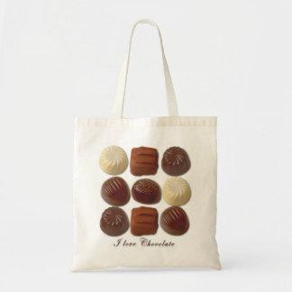 I Love Chocolate Tote Budget Tote Bag