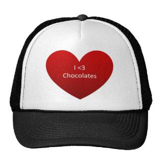 i love chocolates png mesh hats
