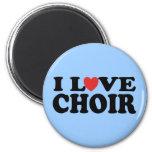 I Love Choir 6 Cm Round Magnet