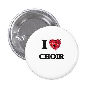 I love Choir 3 Cm Round Badge