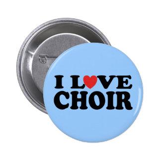 I Love Choir 6 Cm Round Badge