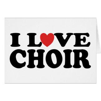 I Love Choir Greeting Cards