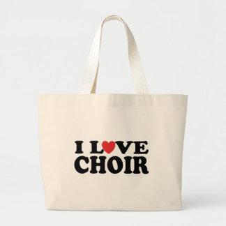 I Love Choir Music Tote Bag Gift