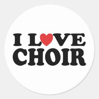 I Love Choir Round Sticker