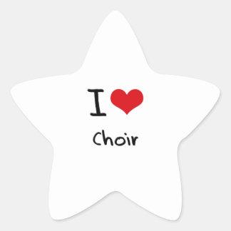 I love Choir Star Sticker