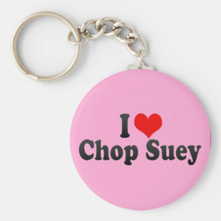 I Love Chop Suey Basic Round Button Key Ring