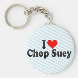 I Love Chop Suey Key Chains