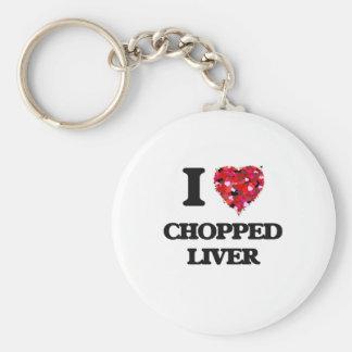 I love Chopped Liver Basic Round Button Key Ring