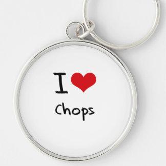 I love Chops Key Chain