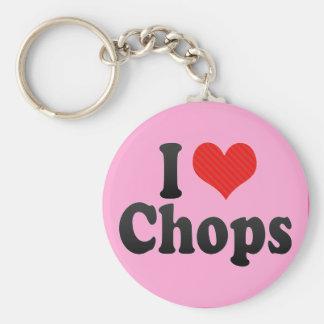 I Love Chops Keychains
