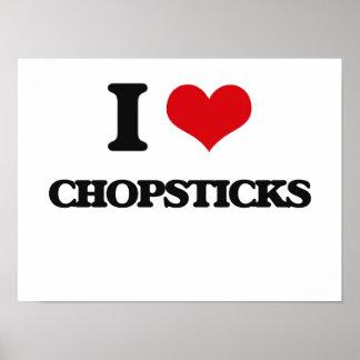 I love Chopsticks Print