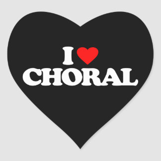 I LOVE CHORAL HEART STICKER