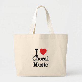 I love Choral Music heart custom personalized Tote Bags