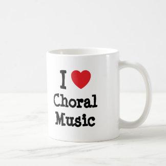 I love Choral Music heart custom personalized Classic White Coffee Mug