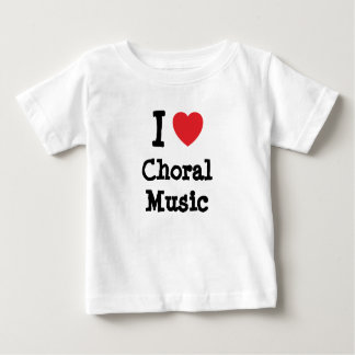 I love Choral Music heart custom personalized Tees