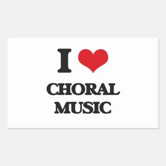 I Love CHORAL MUSIC Sticker