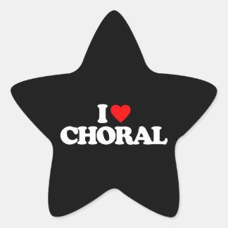 I LOVE CHORAL STAR STICKER