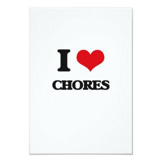 I love Chores 9 Cm X 13 Cm Invitation Card