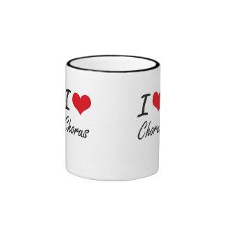 I love Chorus Artistic Design Ringer Mug