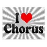 I love Chorus Postcard