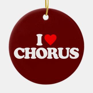 I LOVE CHORUS ROUND CERAMIC DECORATION