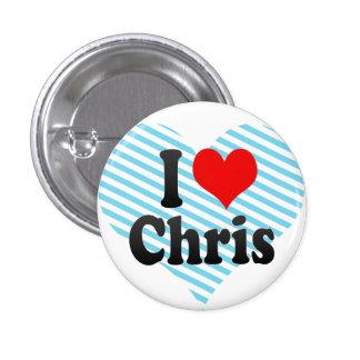 I love Chris Pinback Button