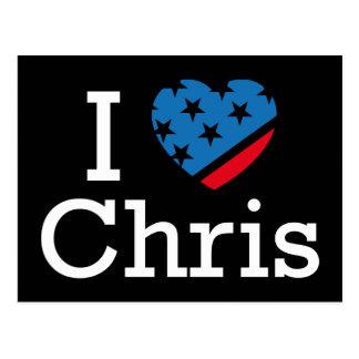 I Love Chris Postcard