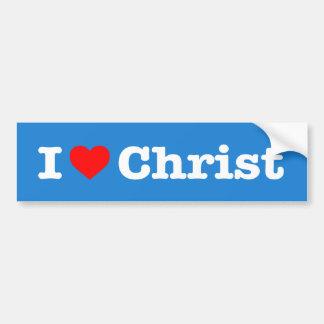 """I LOVE CHRIST"" BUMPER STICKER"