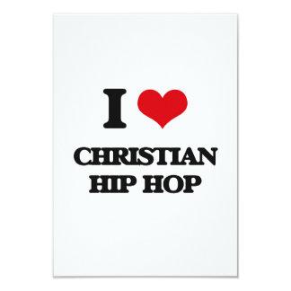 I Love CHRISTIAN HIP HOP Customized Announcement Card