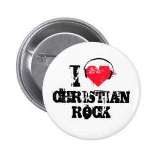 I love christian rock 6 cm round badge