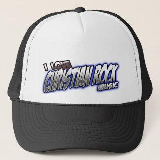 I Love CHRISTIAN ROCK music Trucker Hat